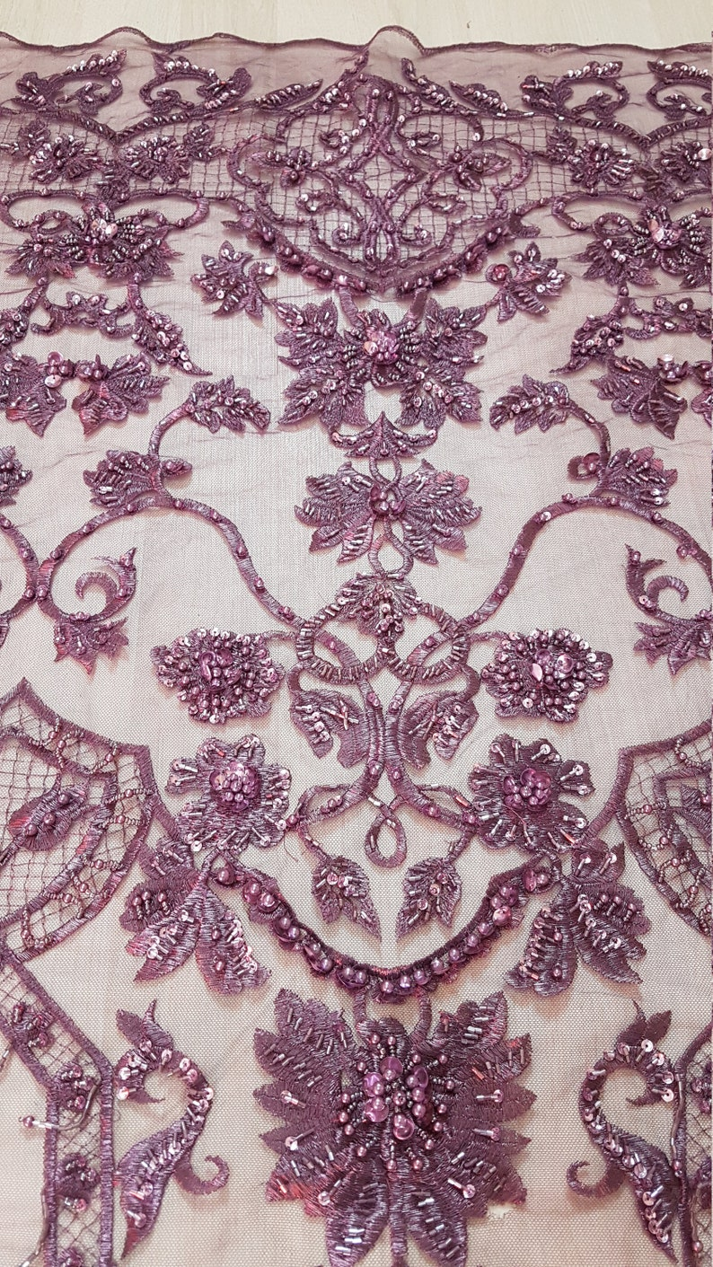 3D-Handbeaded Flower Ornamental Lace Fabric couture lace evening dress fabric embroidery fabric bridal lace Net lace LL-1302