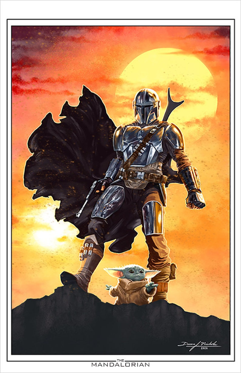 The Mandalorian Art Print image 0