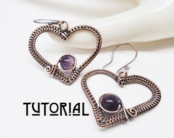 Sweethearts Earring Tutorial, Wire Jewelry for Beginners, Easy