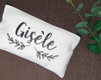 Personalised kit, customizable kit, personalized pouch, toilet kit, eyewit birth, Mother's Day gift, mom gift