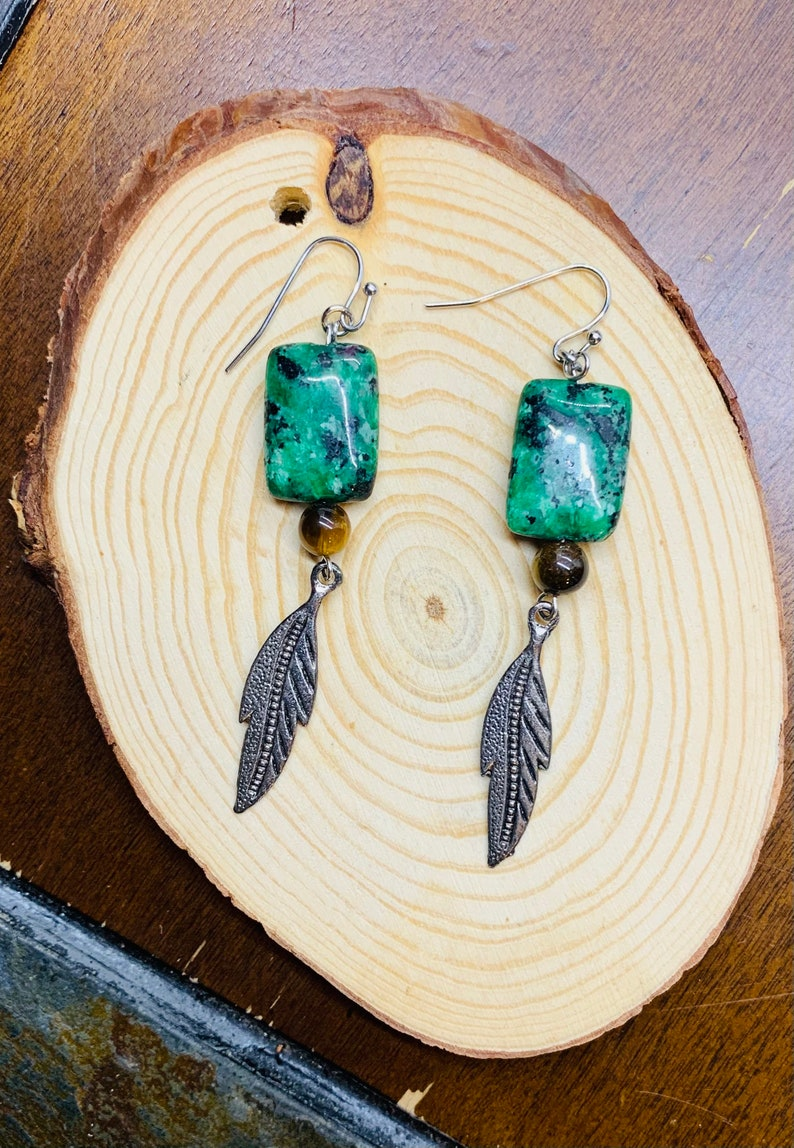 Everyday Nature Gemstone Boho Earrings