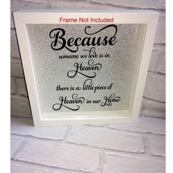 Vinyl Sticker IKEA RIBBA Box Frame What I love most about my Home is....
