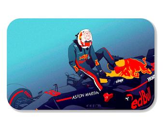 Max Verstappen Red Bull Racing Formula 1 F1 Sticker Metro Credit Card Cover