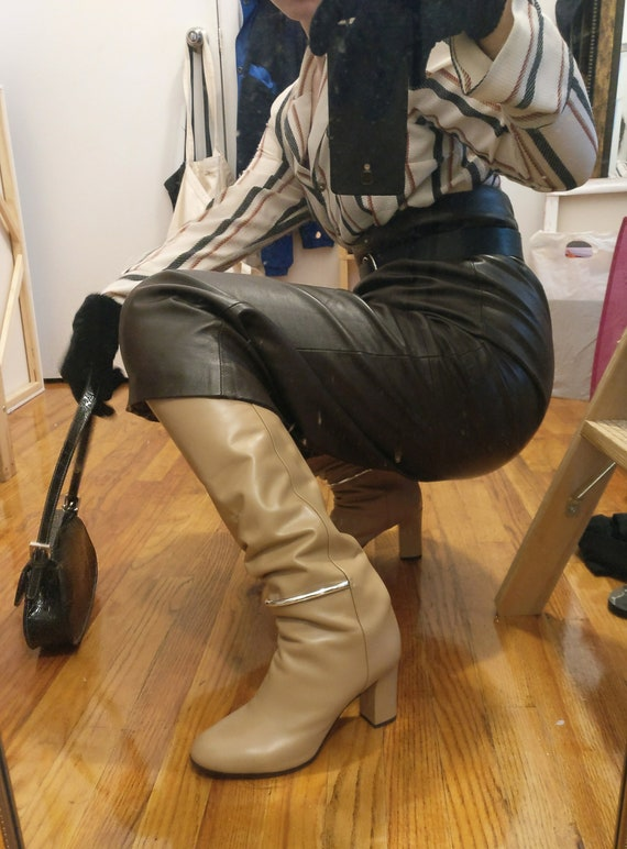 Nude Knee-High Boots