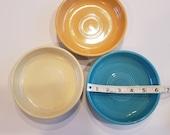 Set of 3 Vintage Fiesta Dessert Bowls