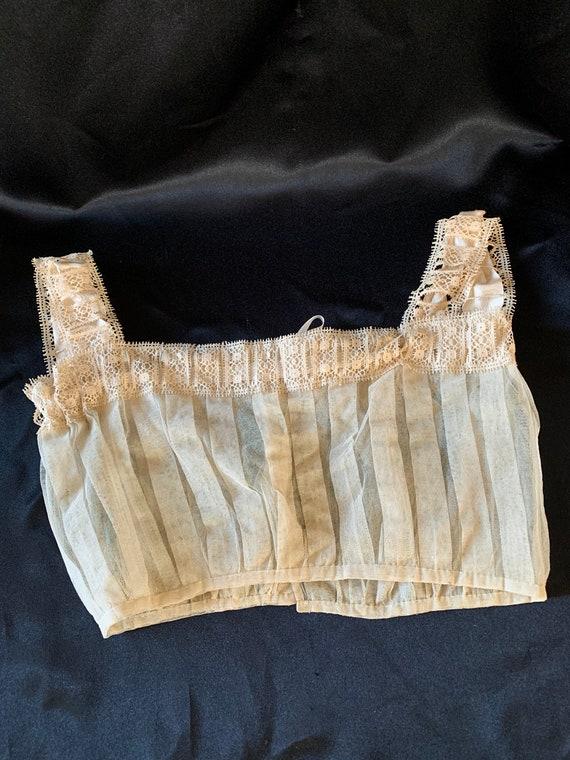 Vintage Lace Corset Cover - image 2