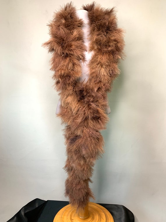 Vintage Brown Ostrich Feather Boa