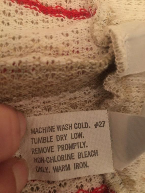 1970's Plus Size Vertical Stripe Knit Midi Skirt … - image 9