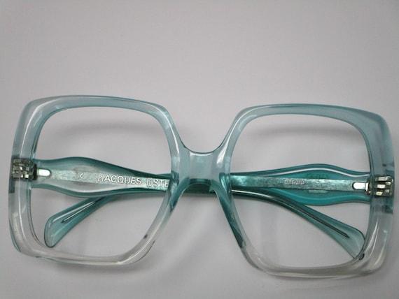 Jacques Esterel Vintage Oversized Square Eyeglasse