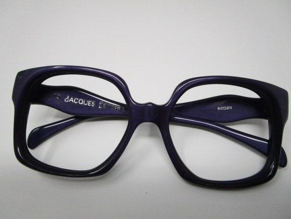 60s 70s Jacques Esterel Purple Vintage Eyeglasses