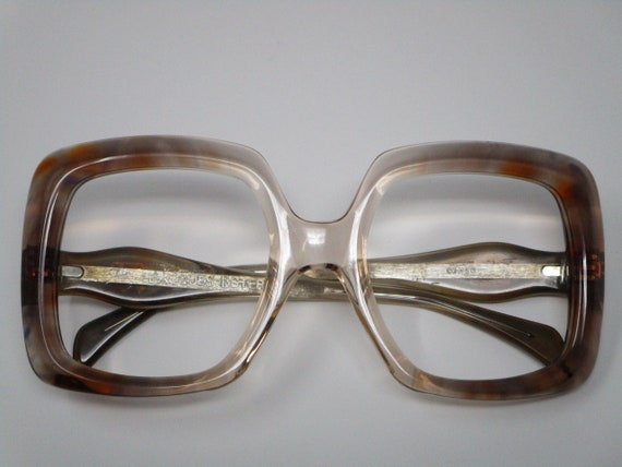 Jacques Esterel 60s 70s Brown Blue Vintage Eyeglas
