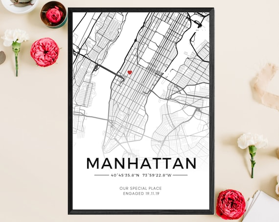 Personalised Our Special Place | Custom Map Print | Digital | Gift | First Date | Wedding Anniversary | Couples | Valentine's Day Gift