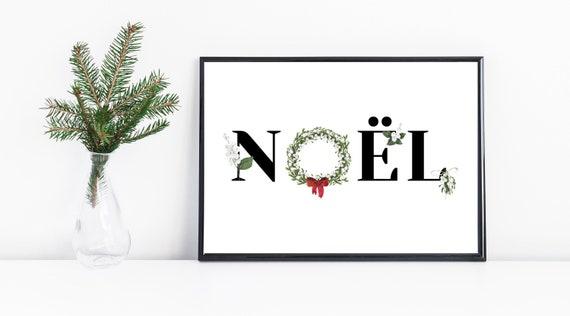 Noel Mistletoe Watercolour Christmas Wreath Print | Christmas Wall Art | Winter Decor | Holiday Printable Art | Christmas Decoration