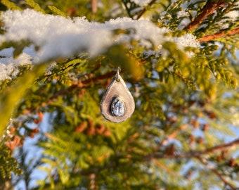 Snowdrop silver pendant
