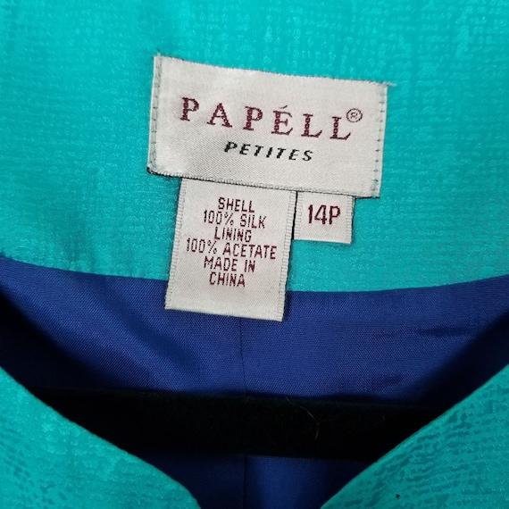 Papelle Petites VTG  Two-Piece Silk Suite 14P - image 4
