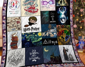 Harry Potter Quilt Blanket 5 sizes Quilt blanket Fleece Blanket