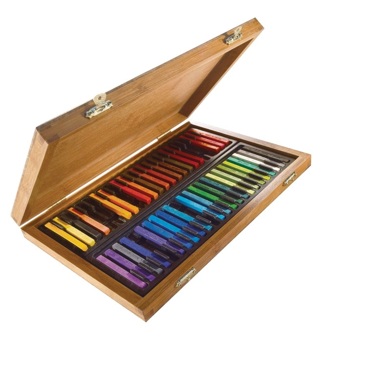 Conte a Paris 48 Colour carres Assorted Bamboo Gift Box