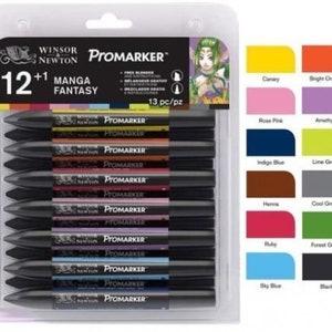Pack of 1 12 Colours and Free Blender Letraset ProMarker Set No.1