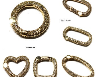 Rainbow Enamel Oval Screw Lock Clasp 5 Pcs Square Screw Clasp,Carabiner Clasp Interlocking Clasp,Connector Clasp jewelry . Hoop Clasp