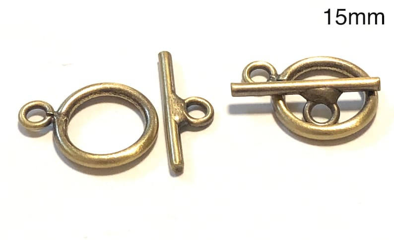 10-18mm Antique Brass Toggle Clasps Small Round Toggle Clasp 130