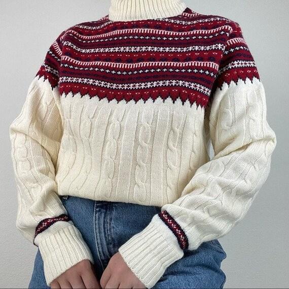 Vintage fair isle Nordic sweater