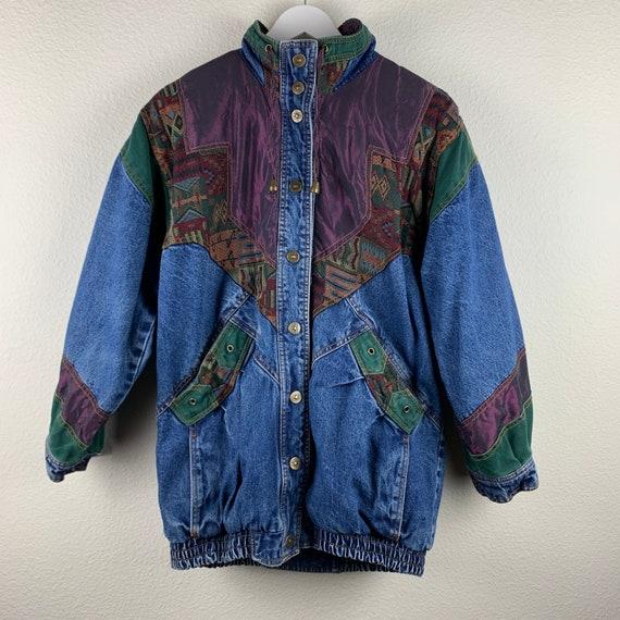 Vintage Denim Aztec Jacket