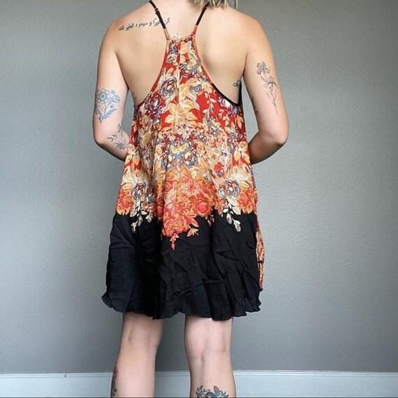 Free People mini beach floral boho hippie dress - image 6