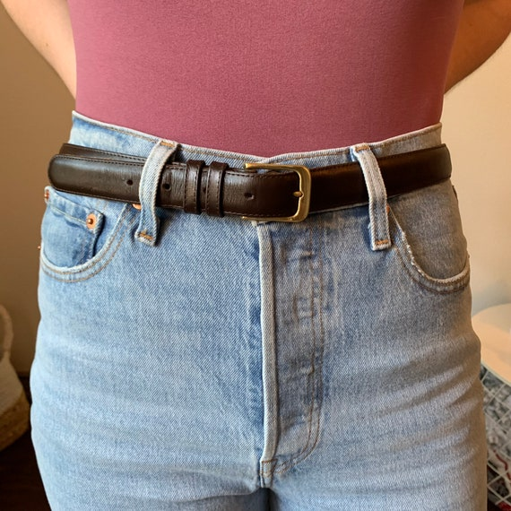 Coach Vintage Brown Leather Belt