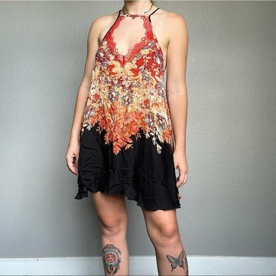 Free People mini beach floral boho hippie dress - image 1