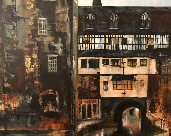 Lincoln, England. The Glory Hole, Lincoln, Lincolnshire UK a Giclee Print from an original Acrylic painting