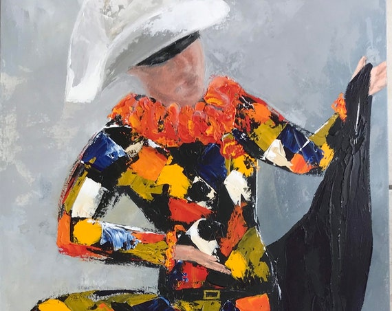 Harlequin Giclee Print from an original Acrylic painting