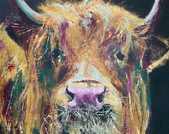 Morag, the Heifer Print of original artwork