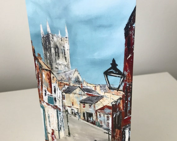 Blank Greeting Card, The Strait, Lincoln