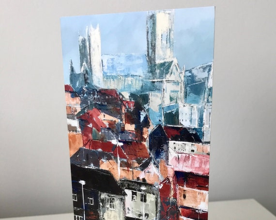 Lincoln from the Brayford, Blank Greeting Card