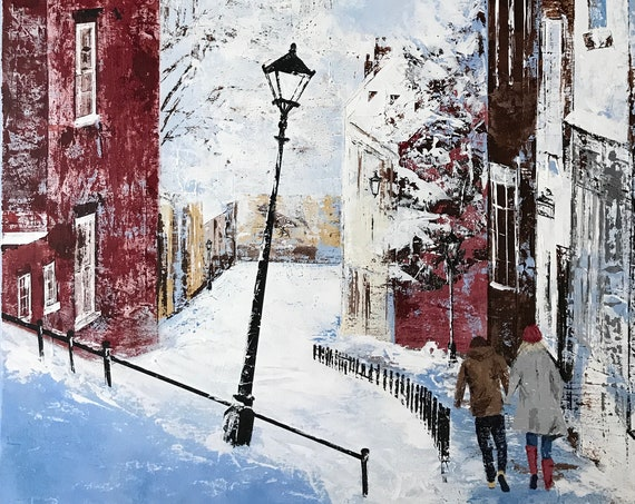 Lincoln Steep Hill Mounted Art Print