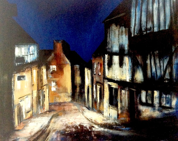 Lincoln, England. Steep Hill, Lincoln UK a Giclee Print from an original Acrylic painting