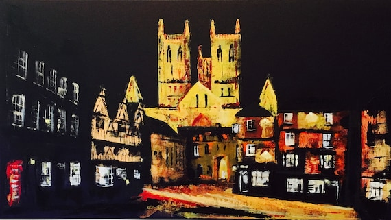 Lincoln, England. Lincoln Cathedral a Giclee Print from an original Acrylic painting