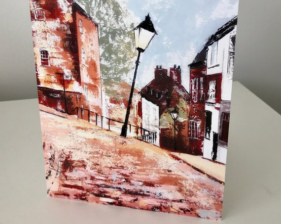 Blank Greeting Card featuring Steep Hill, Lincoln