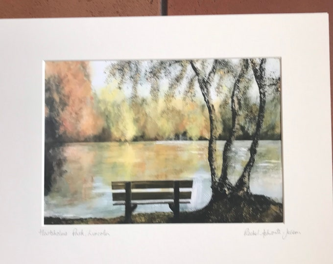 Hartsholme Park, Lincoln a Giclee Print from an original Acrylic painting