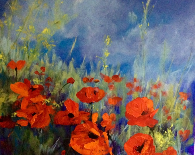 Poppies a Giclee Print from an original Acrylic painting