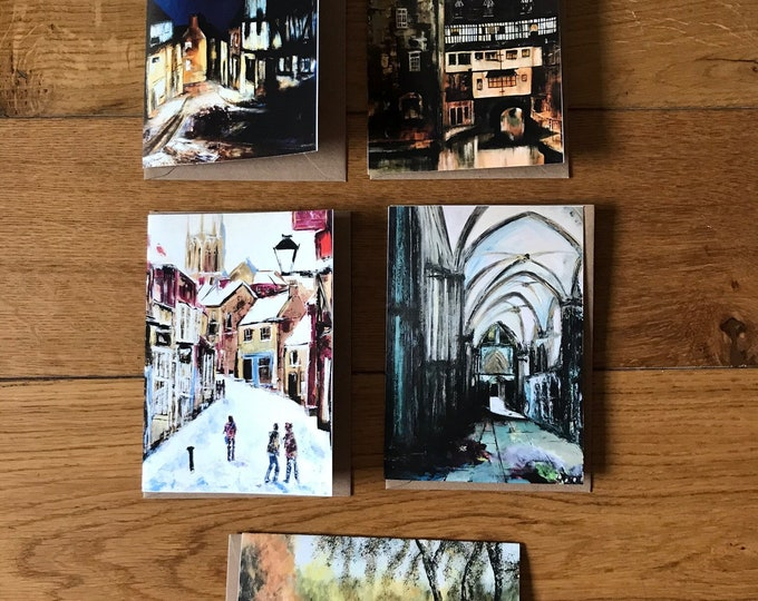 5 x Blank Cards featuring scenes from Lincoln