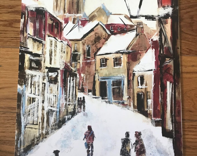 The Strait, Lincoln a hand finished Giclee Print from an original Acrylic painting