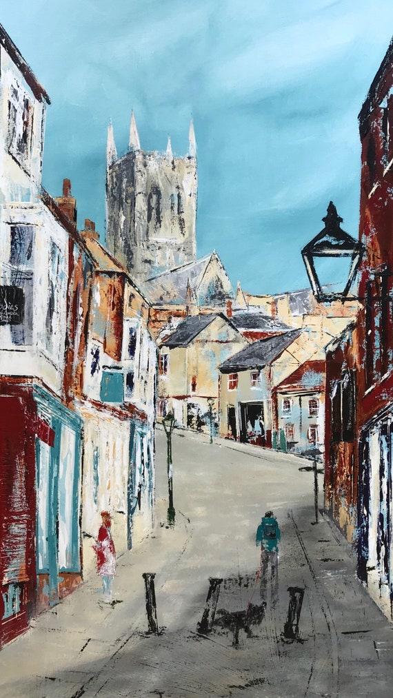The Strait, Lincoln. A hand embellished Giclee Print