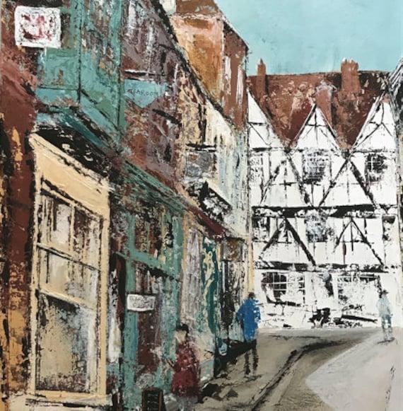 Steep Hill, Lincoln Art Card
