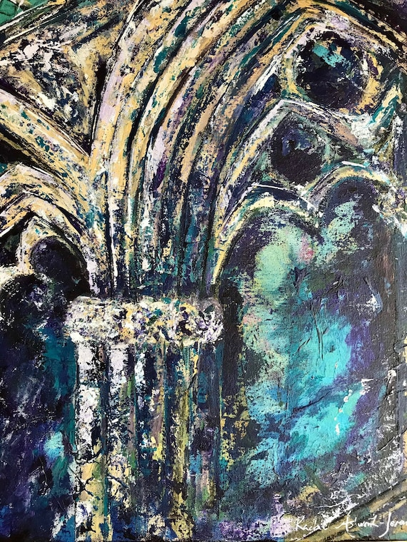 Angel Choir, Lincoln Cathedral a Giclee Print from an original Acrylic painting, Lincoln Cathedral UK, Lincoln Art Print