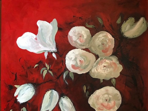 Roses are red, a hand finished Giclee Print from an original Acrylic painting