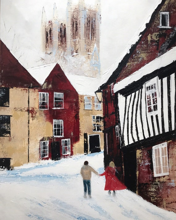 Christmas Michaelgate, Lincoln a Giclee Print from an original Acrylic painting