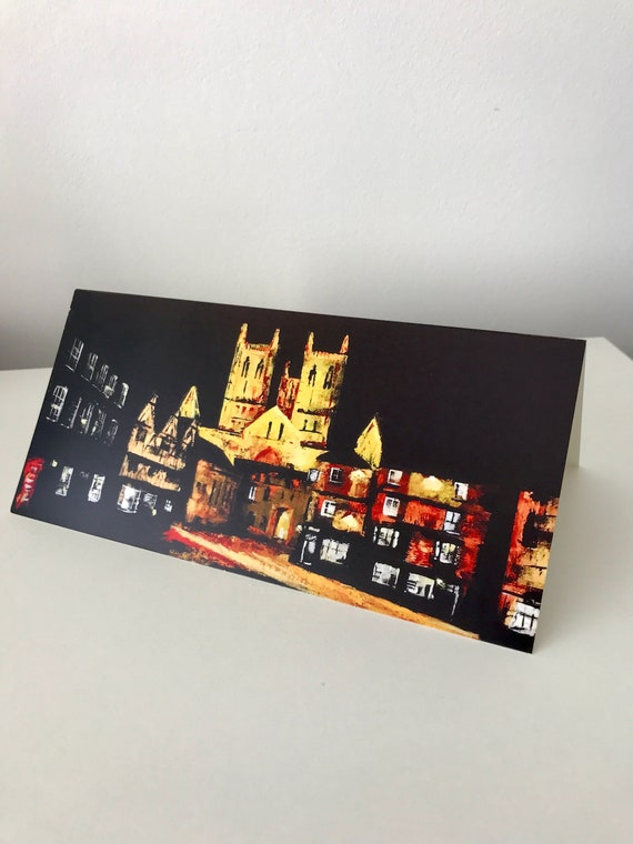 Lincoln Cathedral, Blank Greeting Card