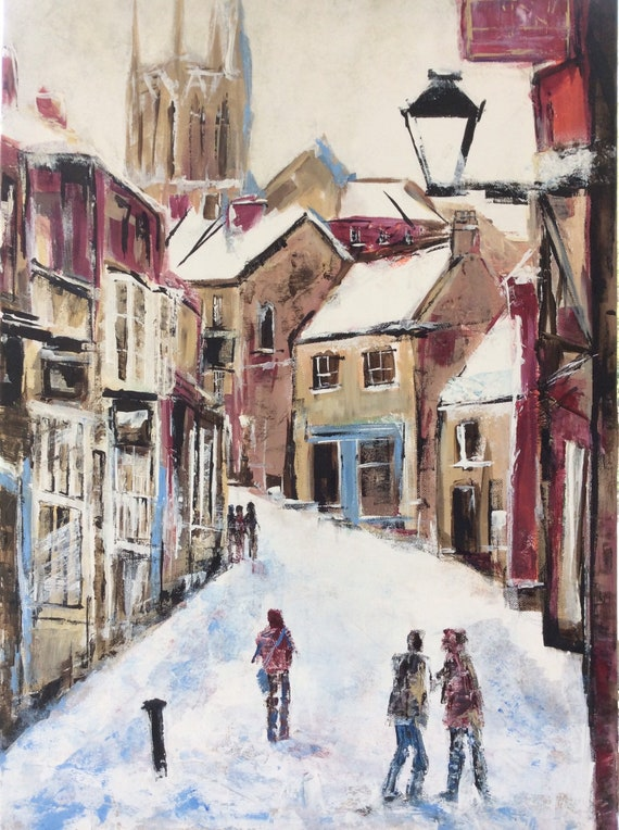 Lincoln, England. Steep Hill, Lincoln a Giclee Print from an original Acrylic painting