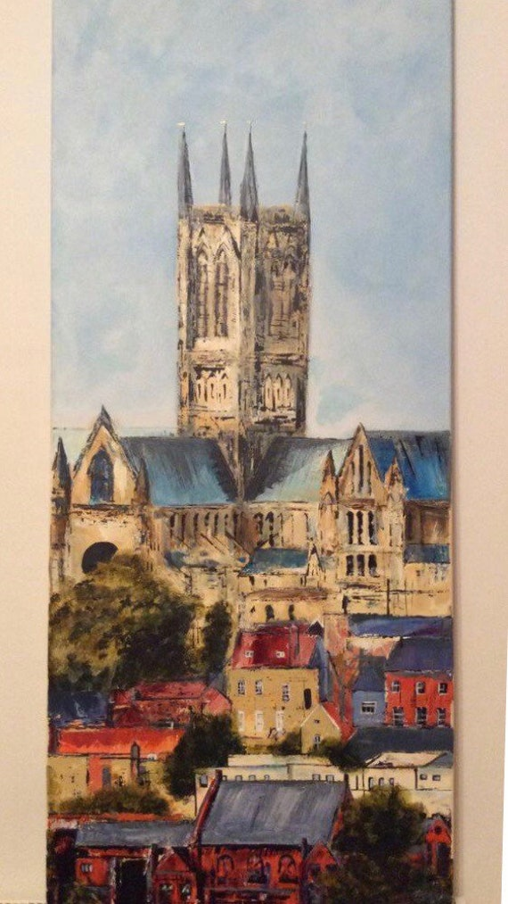 Lincoln Cathedral a hand embellished Giclee Print